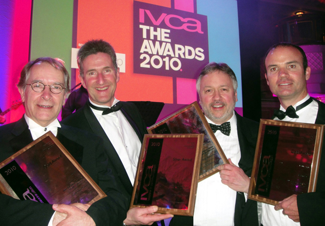 Receiving the four IVCA awards for 1001 Inventions and the Library of Secrets