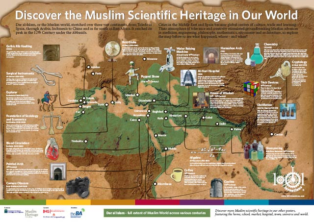Muslim Heritage World Map